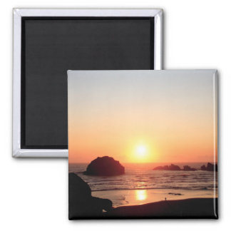 Full Color Face Rock Sunset Oregon Coast Magnet