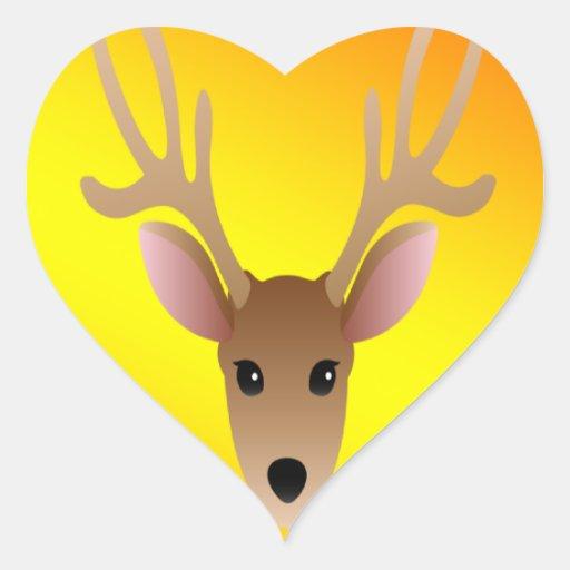 Full Color Head Dear Heart Sticker