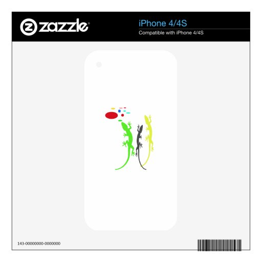 Full Color Lizard Skins For iPhone 4
