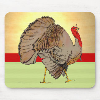 Full Color Thanksgiving Turkey Lights Mouse Pad