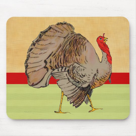 Full Color Thanksgiving Turkey Mouse Pad