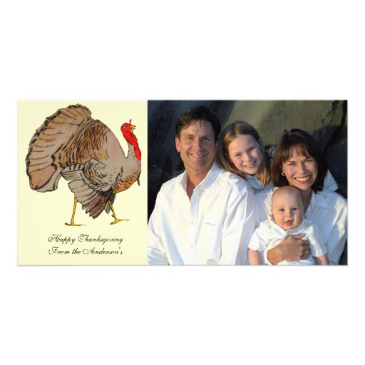 Full Color Thanksgiving Turkey Photo Greeting Card