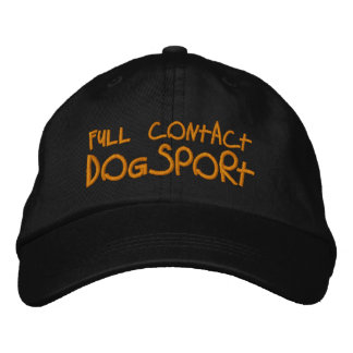 Full Contact Dogsport Embroidered Baseball Caps