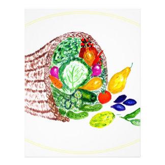 Full Cornucopia Watercolor 2 Letterhead