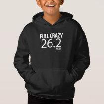 Full Crazy 26.2 Miles Marathon Running Race Design Hoodie