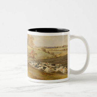 Full Cry, Bachelor's Hall, 1835 (oil on canvas) Two-Tone Coffee Mug
