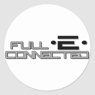 Full-E Connected Logo Classic Round Sticker