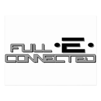 Full-E Connected Logo Postcard
