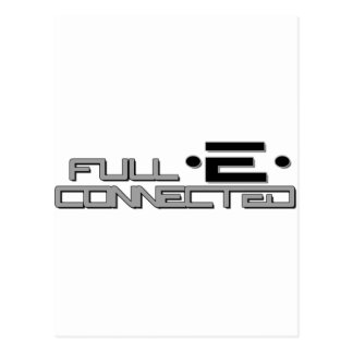 Full-E Connected Logo Postcard