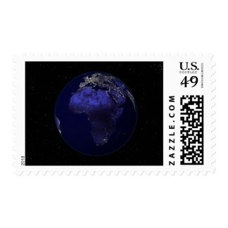 Full Earth at night showing Africa and Europe Postage Stamps
