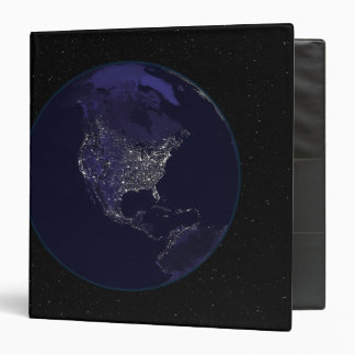 Full Earth at night showing city lights 4 Binder