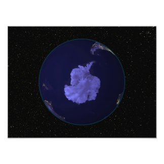 Full Earth at night showing city lights 7 Photo Print