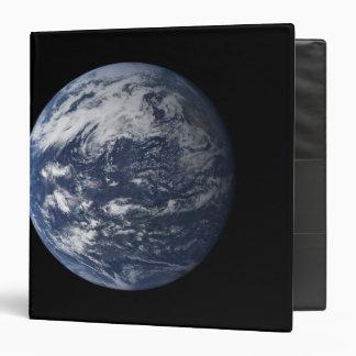 Full Earth centered over the Pacific Ocean Vinyl Binder