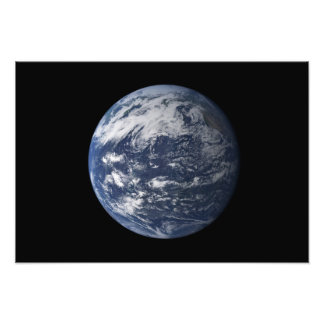 Full Earth centered over the Pacific Ocean Photograph