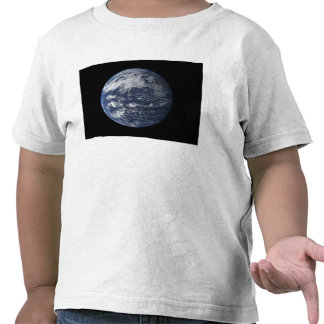 Full Earth centered over the Pacific Ocean Tee Shirts