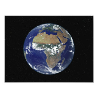 Full Earth Showing Africa and Europe Photo Print