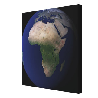 Full Earth showing Africa, Europe, &  Middle Ea Canvas Print