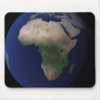 Full Earth showing Africa, Europe, &  Middle Ea Mouse Pad