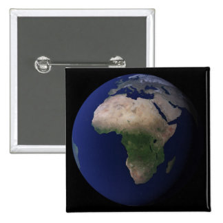 Full Earth showing Africa, Europe, &  Middle Ea Pinback Button