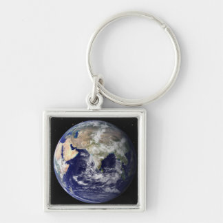 Full Earth showing Europe and Asia 2 Key Chain