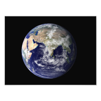Full Earth showing Europe and Asia 2 Photo Print