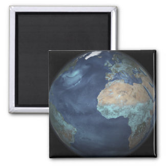 Full Earth showing evaporation 2 Inch Square Magnet