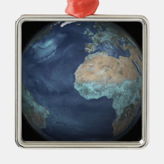Full Earth showing evaporation Metal Ornament