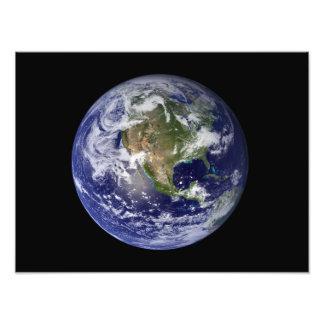 Full Earth showing North America 3 Photo Print