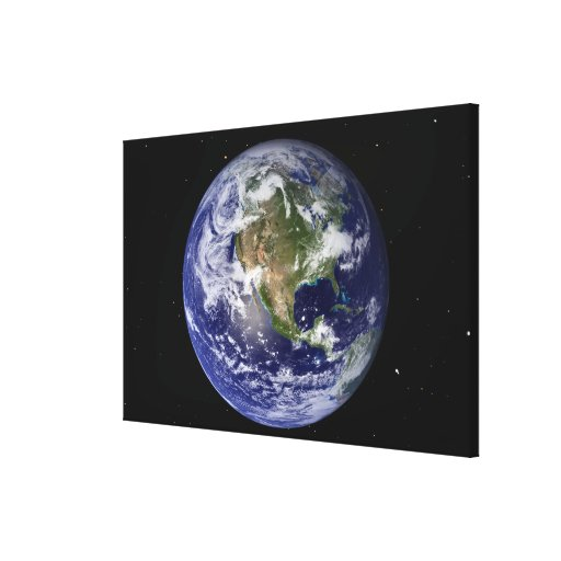Full Earth showing North America 4 Canvas Print