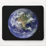 Full Earth showing North America 4 Mouse Pad