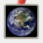 Full Earth showing North America 4 Ornament