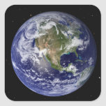 Full Earth showing North America 4 Stickers