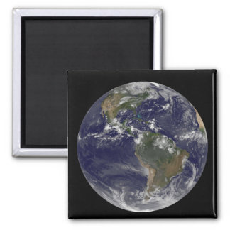 Full Earth showing North America and South Amer 2 Refrigerator Magnets