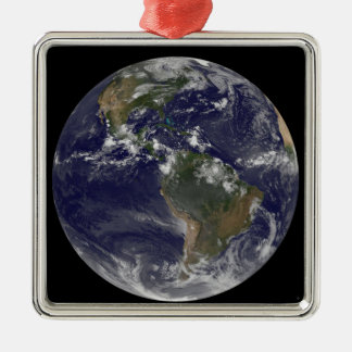 Full Earth showing North America and South Amer 2 Metal Ornament