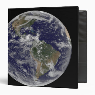 Full Earth showing North America and South Amer 3 3 Ring Binders