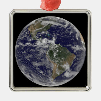 Full Earth showing North America and South Amer 3 Metal Ornament