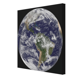 Full Earth showing North America and South Amer 4 Canvas Print
