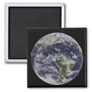 Full Earth showing North America and South Amer 4 Refrigerator Magnets