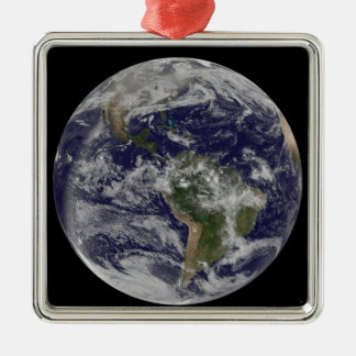 Full Earth showing North America and South Amer 4 Metal Ornament