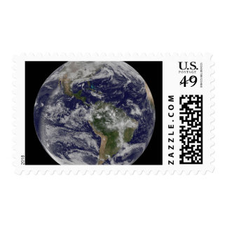 Full Earth showing North America and South Amer 4 Postage