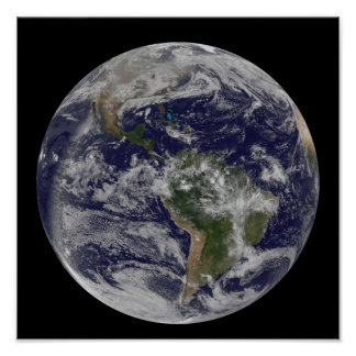 Full Earth showing North America and South Amer 4 Poster