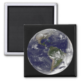 Full Earth showing North America and South Amer 5 Magnets