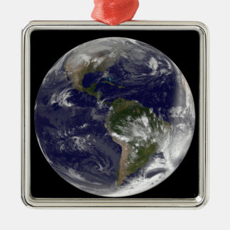 Full Earth showing North America and South Amer 5 Metal Ornament