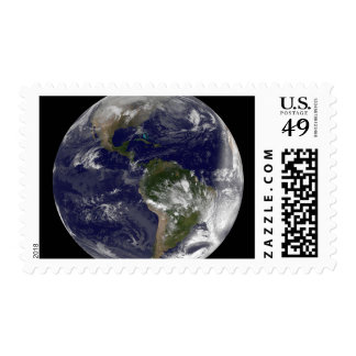 Full Earth showing North America and South Amer 5 Postage Stamps