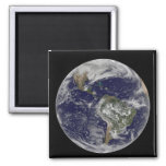 Full Earth showing North America and South Amer 6 2 Inch Square Magnet
