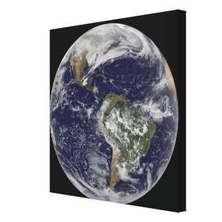 Full Earth showing North America and South Amer 6 Canvas Print