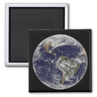 Full Earth showing North America and South Amer 6 Refrigerator Magnets