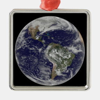 Full Earth showing North America and South Amer 6 Metal Ornament