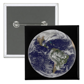 Full Earth showing North America and South Amer 6 Pinback Button