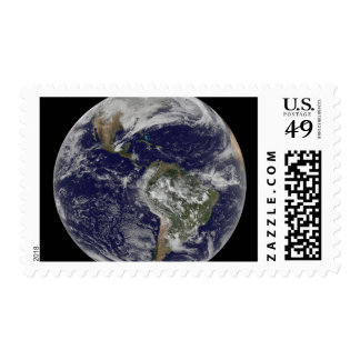Full Earth showing North America and South Amer 6 Postage Stamp